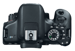 Canon EOS 750D / Rebel T6i DSLR Camera - Top View