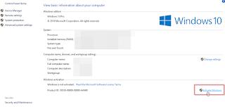 Langkah-langkah Cara Aktivasi Windows 10 Asli Dengan Serial Key