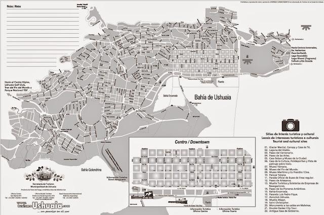 Mapa de Ushuaia