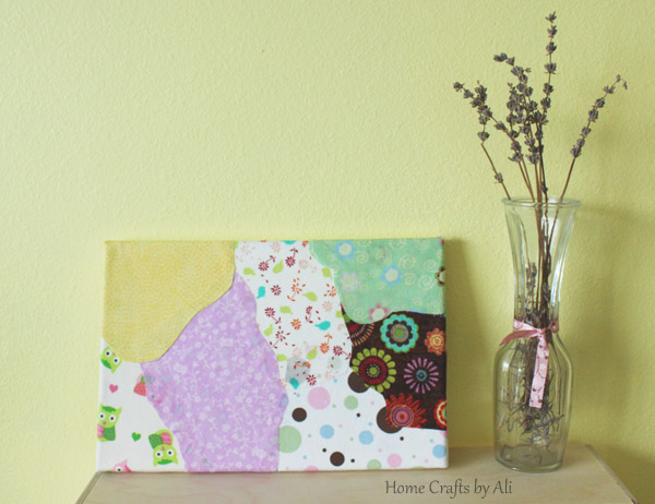 make your own wall art with fabric scraps