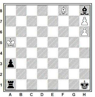Estudio artístico de ajedrez compuesto por Paul Heväckers (Deutsche Schachblätter, 1937)