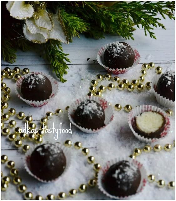 Kokosovo-čokoládové guľky
