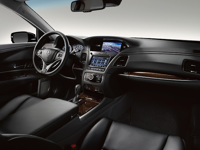 Interior view of 2016 Acura Sport Hybrid