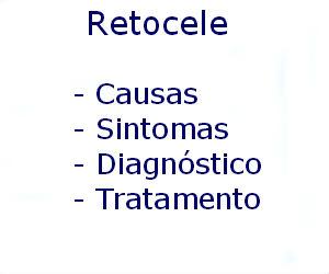 Retocele causas sintomas diagnóstico tratamento prevenção riscos complicações