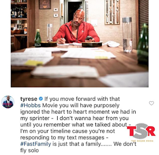 Tyrese The Rock Hobbs Movie Beef