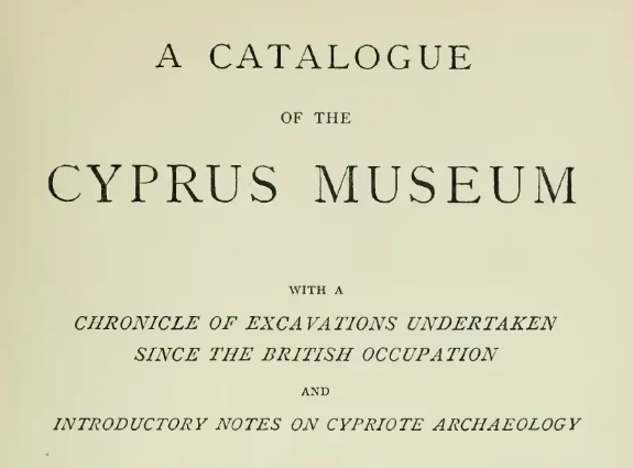 A Catalogue of the Cyprus Museum