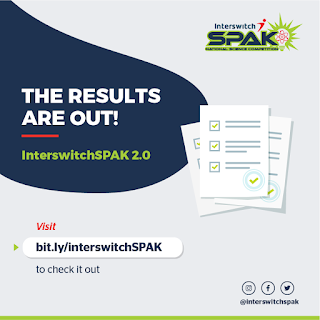 InterswitchSPAK 2.0 Competition Exam Results Checker 2019/2020