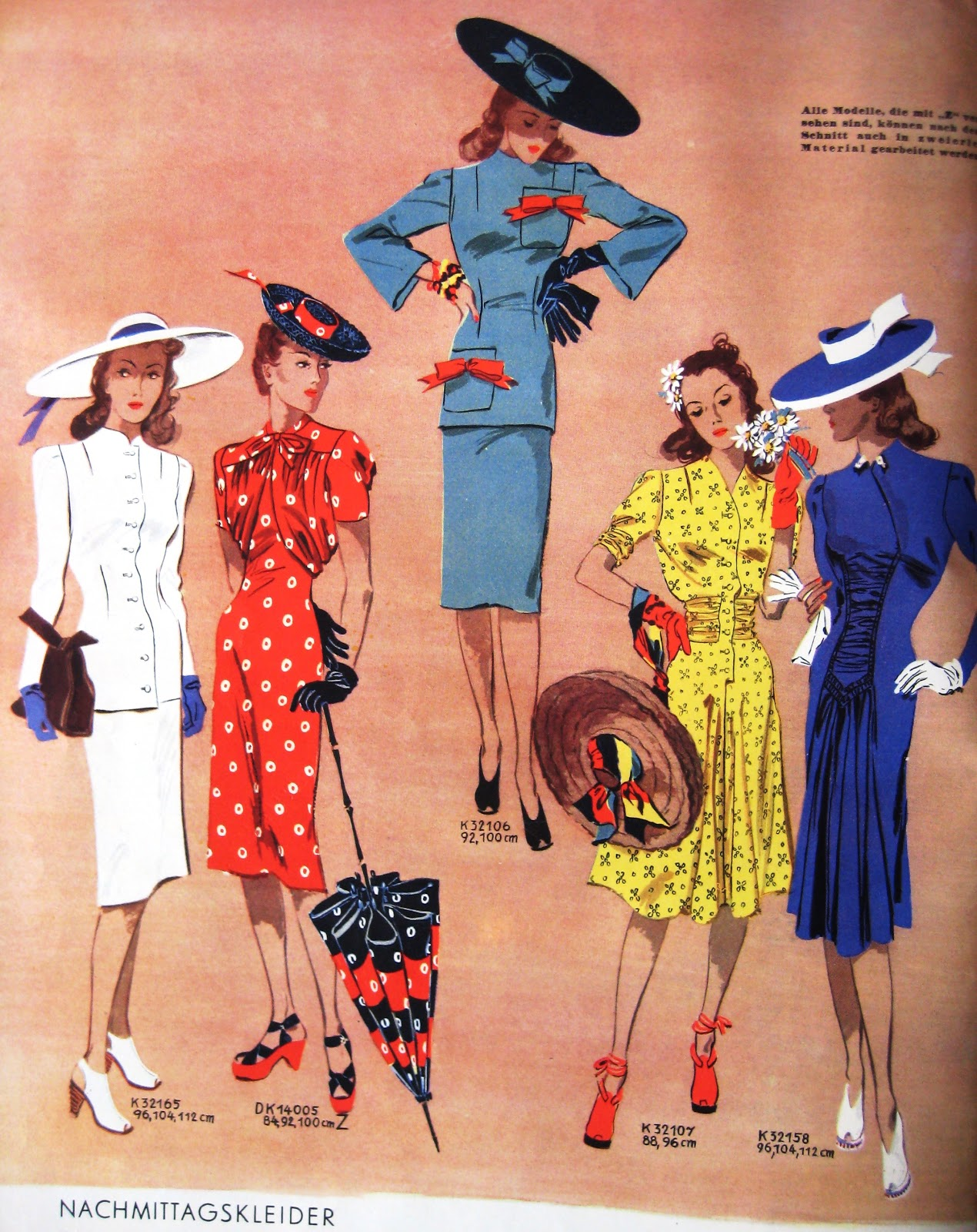 1940s Fashion What Did Women Wear In The 1940s: Color Fashion, Woman Fashion, 1940S Styles, 1940S Fashion