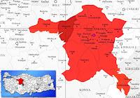 Beypazarı ilçesinin nerede olduğunu gösteren harita