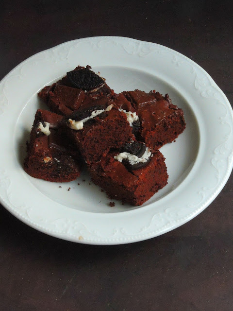 oreo brownies, Oreo Chocolate brownies
