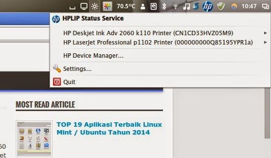 Cara Install Printer HP di Linux