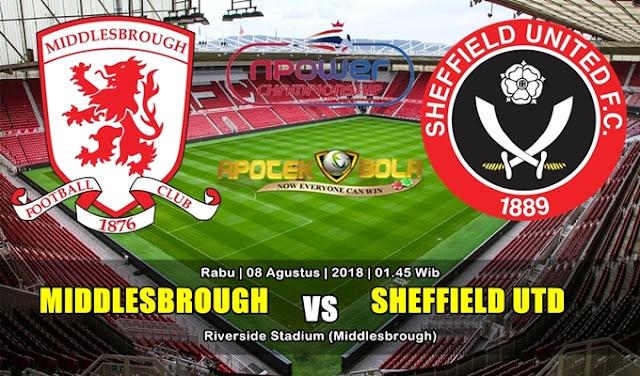 Prediksi Middlesbrough vs Sheffield United 8 Agustus 2018