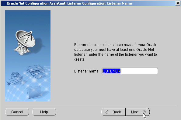 oracle sql developer listener 12505