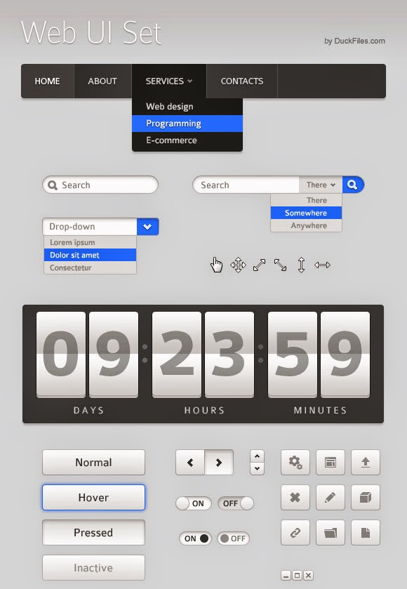 70+ User Interface Elements Pack