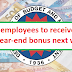 Gov't employees to receive cash gift, year-end bonus next week