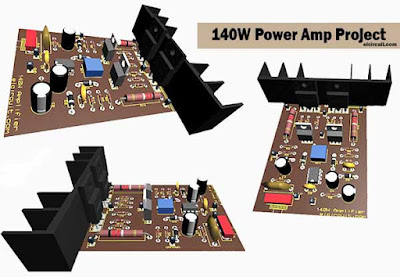 140W Power Amplfier How to make it