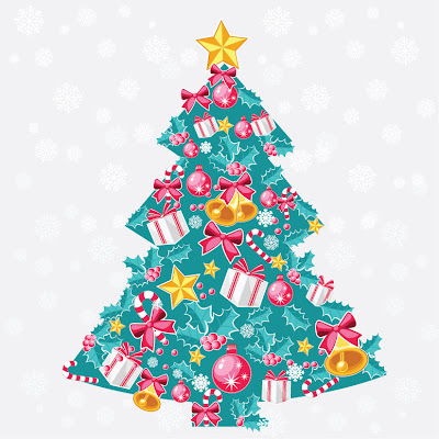 Abstract Christmas Tree Vector, Christmas stuff, Holidays Stuff, Vectors