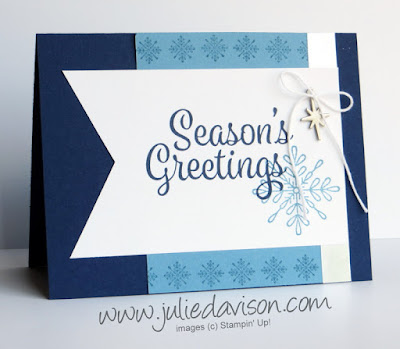 Stampin' Up! Snowflake Sentiments Christmas Card ~ Sketch Book Card Layouts ~ www.juliedavison.com