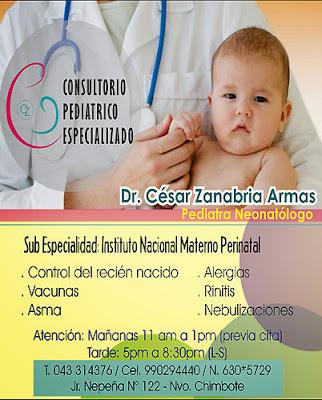 Dr. César Zanabria Armas – Consultorio Pediátrico Especializado