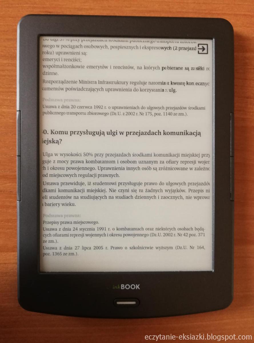 Przybliżony plik PDF w InkBOOK Classic 2