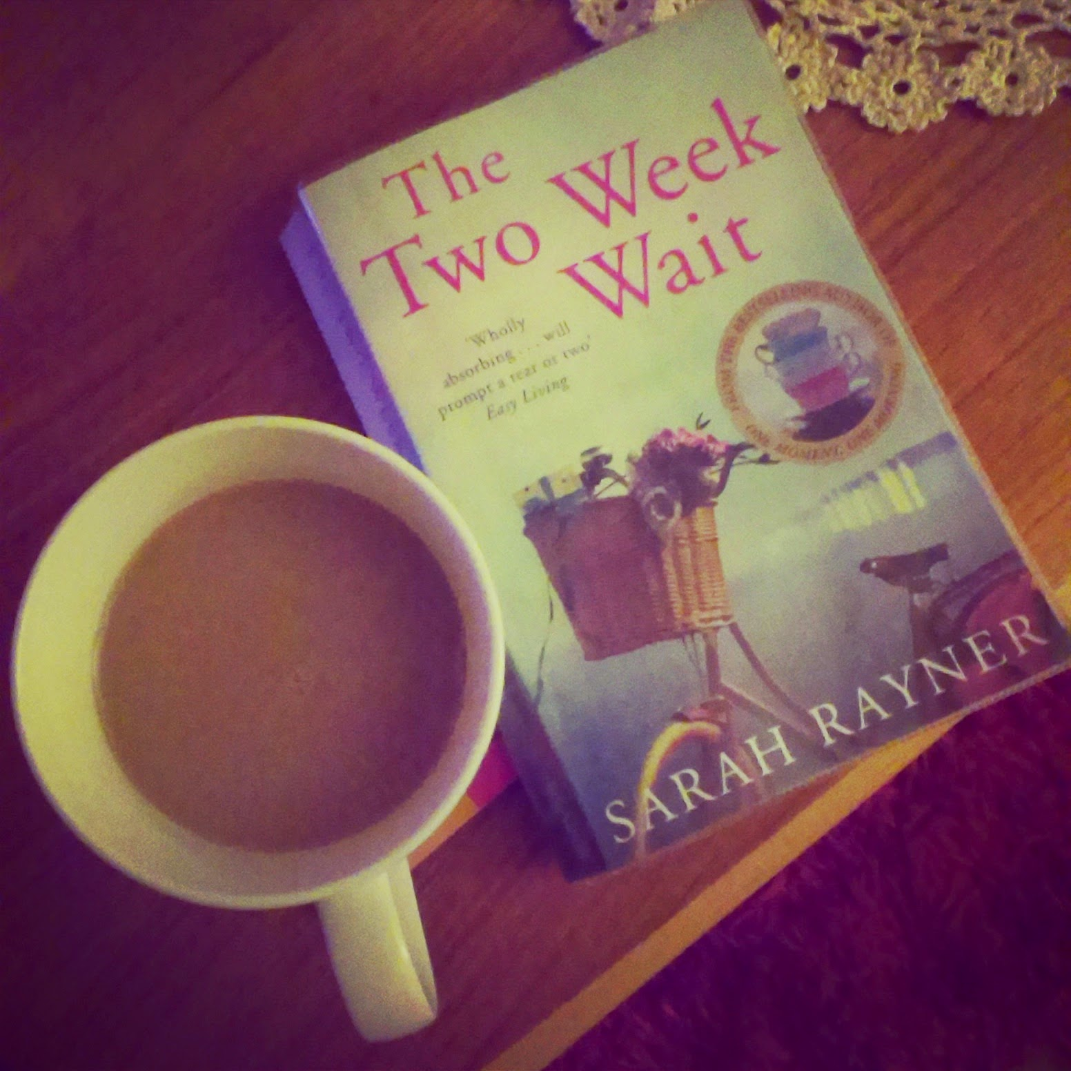 11pm - cup of tea and book before bedtime