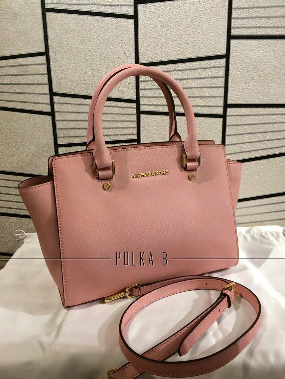 Michael Kors Medium Selma Saffiano Leather Satchel - Pale pink ... ec947f5c51152