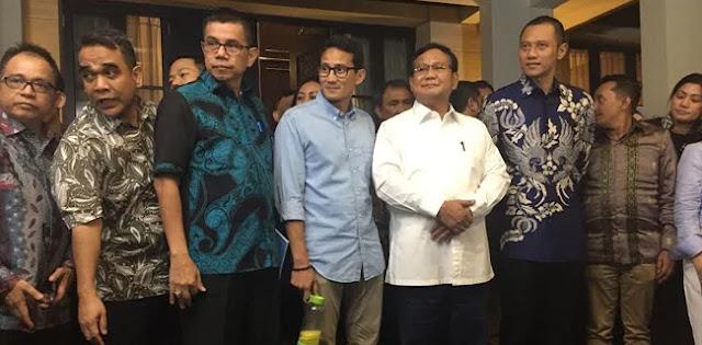 Ini yang Dibahas Prabowo-Sandi di Rumah SBY