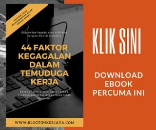Download eBook 44 faktor kegagalan dalam temuduga kerja