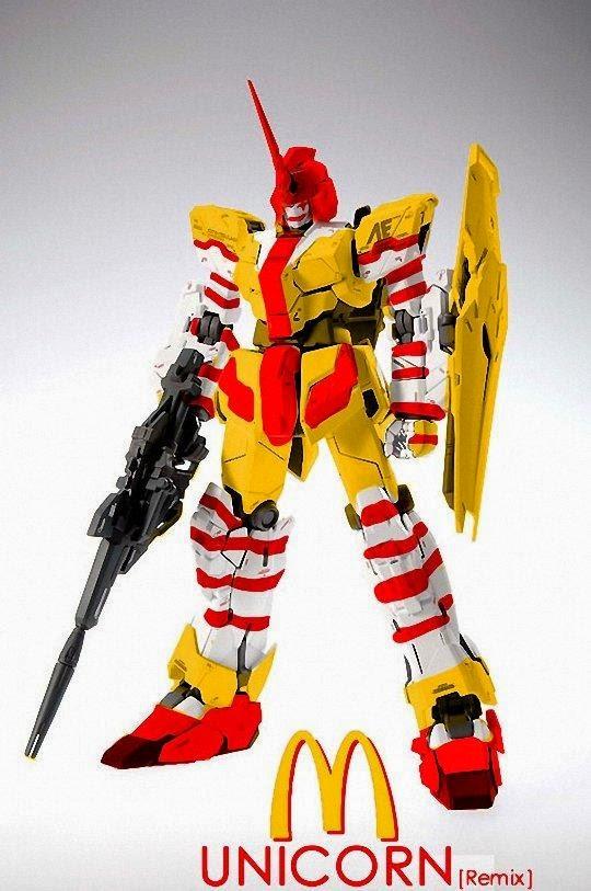 Unicorn Gundam McDonald