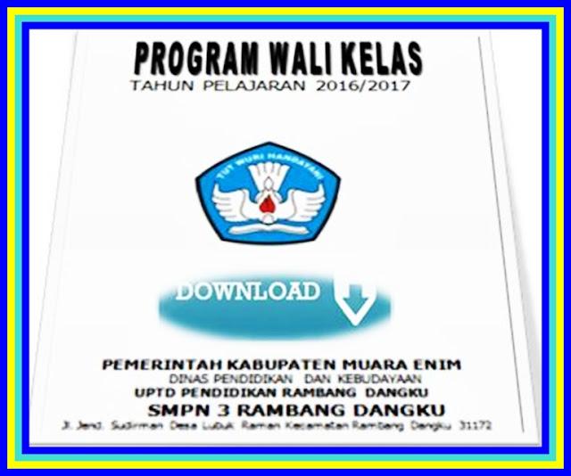 Aplikasi Program Kerja Guru & Wali Kelas 2017/2018 Terbaru
