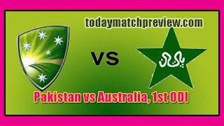AUS vs PAK Australia Tour of Pakistan 1st ODI Match Prediction Who Win Today PAK vs AUS