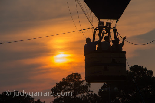 Tethered balloon ride and sunset