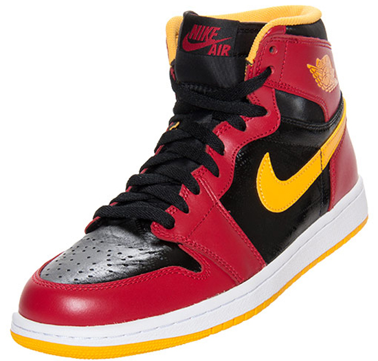 new product e97e6 263f3 ... this Air Jordan 1 Retro High OG comes in an Atlanta Hawks inspired  black, gym red and university gold colorway. Known as the