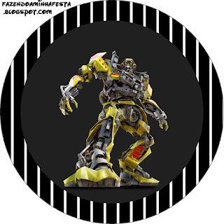Toppers o Etiquetas de Transformers para imprimir gratis.