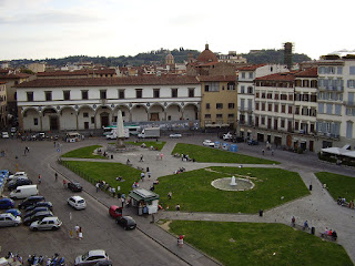 The Piazza Santa Maria Novella in Florence, where Giuseppe Garibaldi gathered support for his Expedition of the Thousand