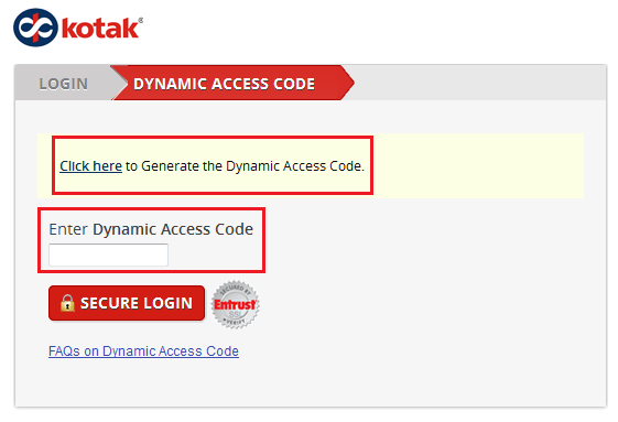 Generate Kotak Dynamic Access Code