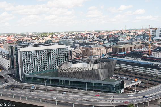 Estación de tren de Estocolmo desde la torre