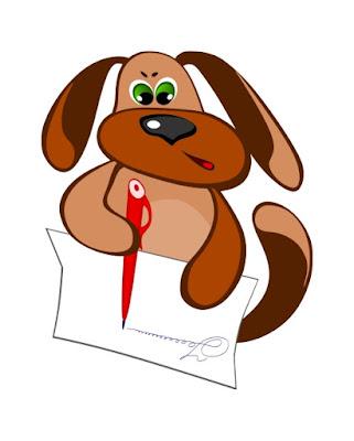 Пес Захар пишет письмо Красивые открытки бесплатно для вас / Beautiful postcards are free for you, p_i_r_a_n_y_a