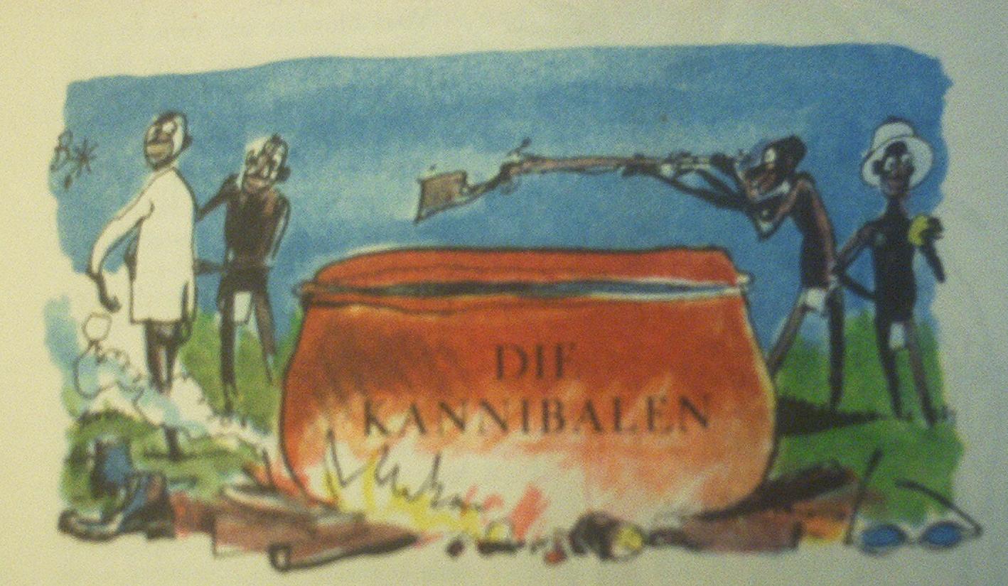 gehen zwei kannibalen durch den