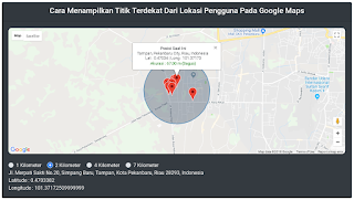 Cara Menampilkan Titik Terdekat Dari Lokasi Pengguna Pada Google Maps