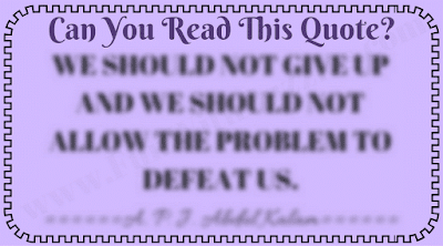 Can You Read this Blurred Quote?