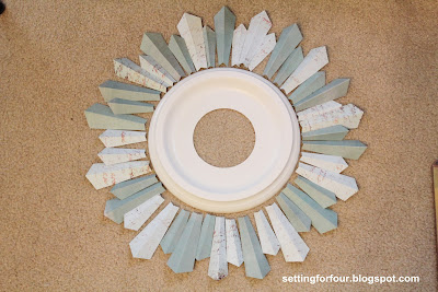 How to make a Sunburst Mirrror from a Ceiling Medallion from Setting for Four
