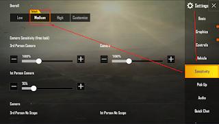 Cara Mengatur Sensitivitas  Pada Game PUBG Mobile Seperti Para Pro Players