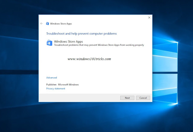 Windows-Store-Apps-Troubleshooter-to-fix-store-not-opening-problem