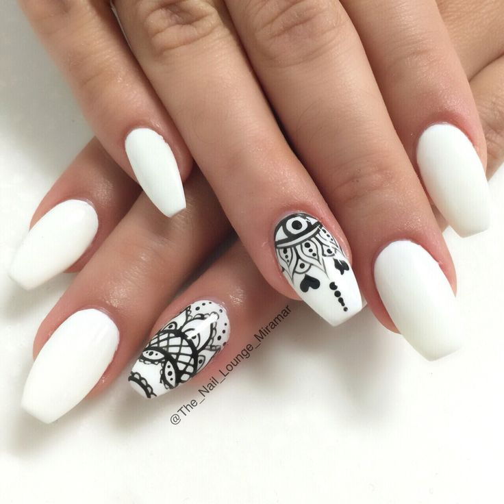 Henna Inspired Nail Art Designs