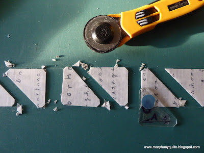 help how to cut marti michell kite in a square