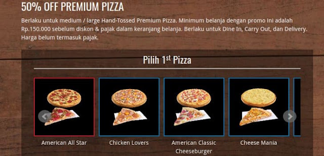 voucher domino's premium pizza