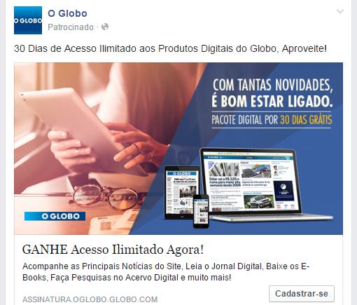 41cfd5949e Blog do Emilton Xavier  Fazer assinatura do jornal o globo  Nem de ...