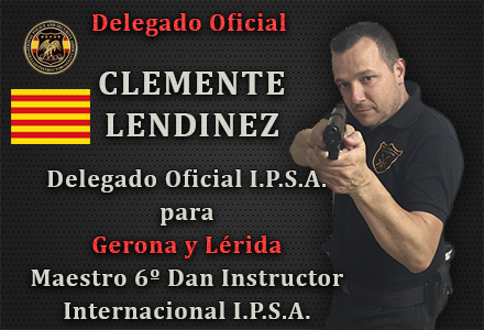 DEGELADO OFICIAL IPSA CLEMENTE LENDINEZ GERONA LERIDA INTERNATIONAL POLICE AND SECURITY ASSOCIATION