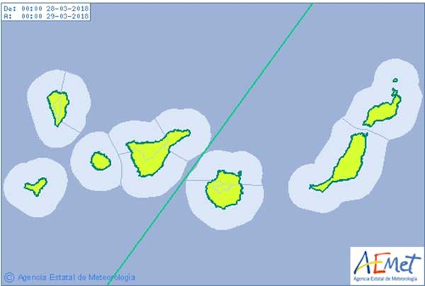 Avisos amarillos en Canarias  por calima en semana Santa